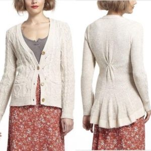 Anthro Far From Close Skirted Fisherman Cardigan S
